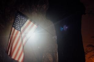 American flag. Charlotte.
