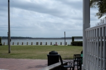You have a nice view if you're sitting outside at this cafe in Beaufort. Cute little town.