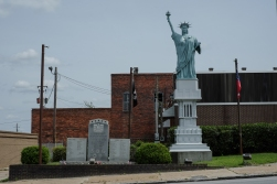 I forget the name of this town. I was merely passing through, but I was told by a Warm Showers host that there is a really awful Statue of Liberty replica here. And so there is.