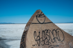 Salt Flats. Part of the Tree of Utah monument.
