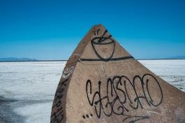 Salt Flats. Part of the Tree of Utah monument.