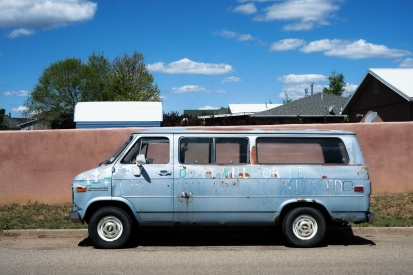 My host's van in Las Vegas. They were a fabulous couple, and I received some fantastic advice on my circuitous route to Santa Fe